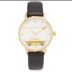 Kate Spade In a New York Minute Black Gold Watch